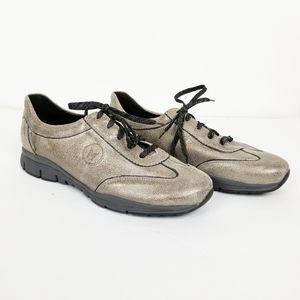 Mephisto Runoff gild metallic lace up sneakers
